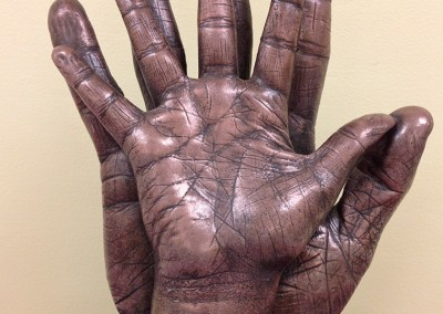 Big and Little Hands in Bronze