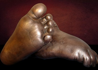 Bronze Baby Feet